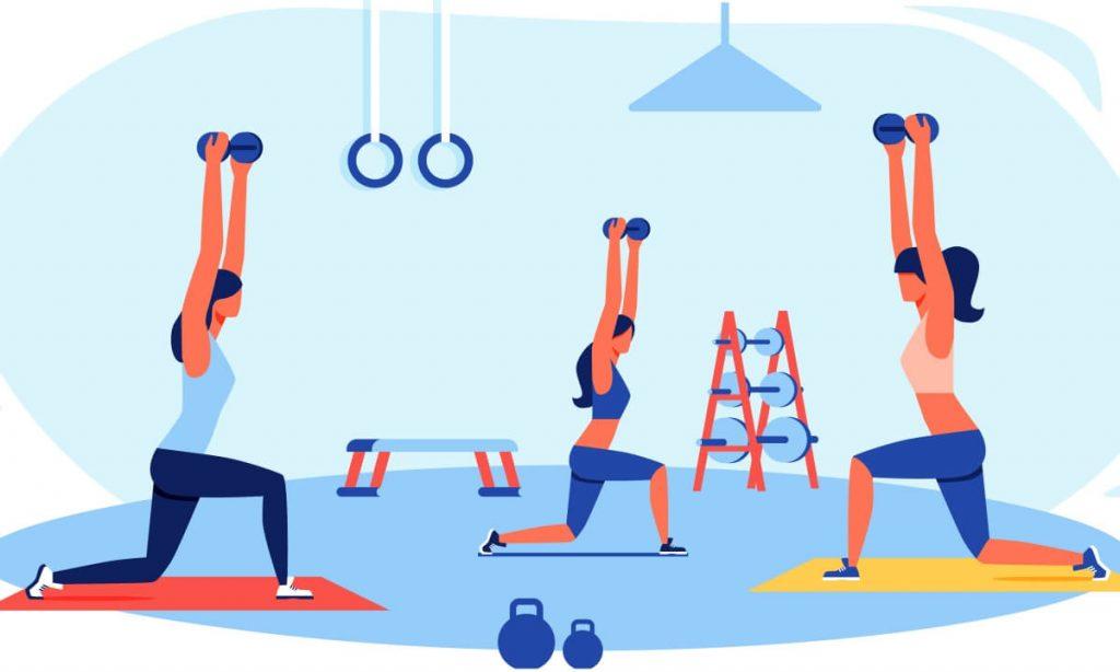 O Gympass oferece a possibilidade de fazer atividades físicas presenciais ou online