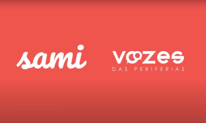 Imagem dos logos da Sami e do Instituto Vozes das Periferias